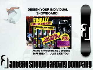 DESIGN YOUR INDIVIDUAL SNOWBOARD! Klagenfurt