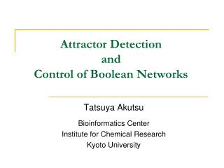 Attractor Detection and Control of Boolean Networks
