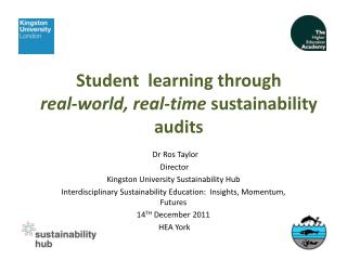 Student  learning through  real-world, real-time  sustainability audits