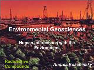 Environmental Geosciences