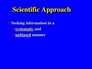 Scientific Approach