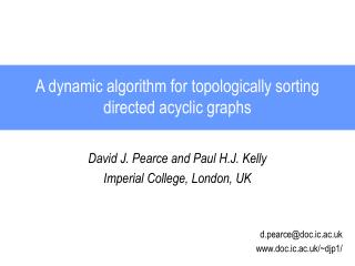 A dynamic algorithm for topologically sorting directed acyclic graphs