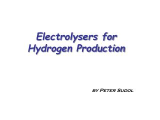 Electrolysers for Hydrogen Production