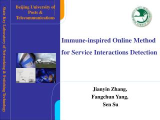 Immune-inspired Online Method for Service Interactions Detection