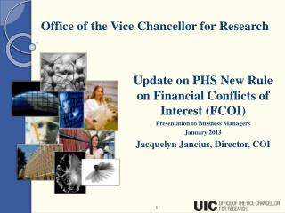 Update on PHS New Rule on Financial Conflicts of Interest (FCOI) Presentation to Business Managers