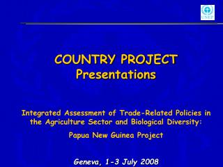 COUNTRY PROJECT Presentations