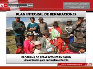 PLAN INTEGRAL DE REPARACIONES
