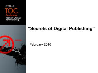 �Secrets of Digital Publishing�