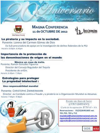 M AGNA  C ONFERENCIA  11 de OCTUBRE DE 2012