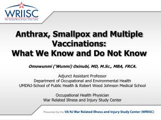 Anthrax, Smallpox and Multiple Vaccinations: What We Know and Do Not Know