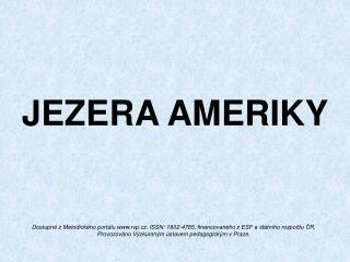 JEZERA AMERIKY