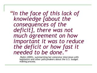 Disagreement,  Delay, and Deficits