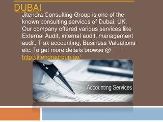 Accounting and auditing services in Dubai