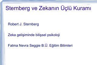 Sternberg ve Zekanın Üçlü Kuramı