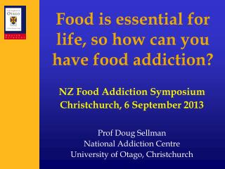 Food is essential for life, so how can you have food addiction?