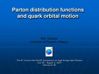 Parton distribution functions and quark orbital motion
