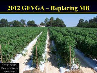 2012 GFVGA – Replacing MB