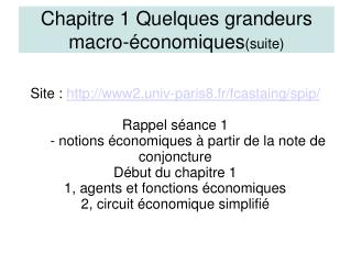 Site:  www2.univ-paris8.fr/fcastaing/spip/ Rappel séance 1
