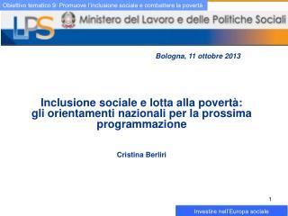Inclusione sociale e lotta alla povertà: gli orientamenti nazionali per la prossima programmazione