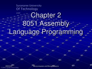 Chapter 2 8051 Assembly Language Programming