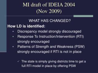 MI draft of IDEIA 2004  (Nov 2009)