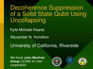 Decoherence Suppression of a Solid State Qubit Using Uncollapsing