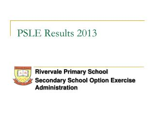 PSLE Results 2013