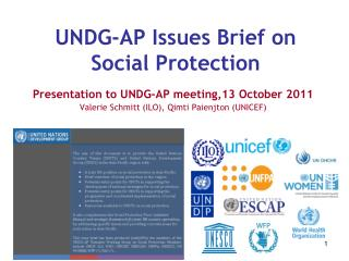 UNDG-AP Issues Brief on Social Protection
