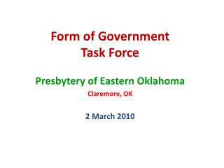 Form of Government Task Force