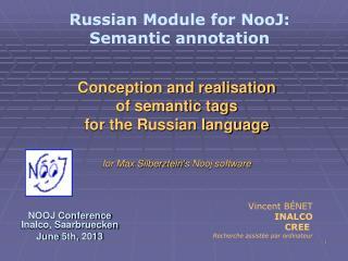 NOOJ Conference Inalco, Saarbruecken June 5th, 2013