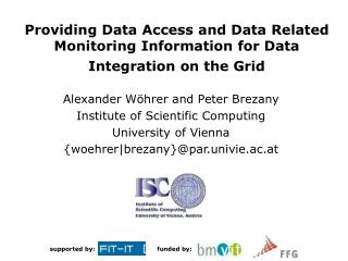 Providing Data Access and Data Related Monitoring Information for Data Integration on the Grid