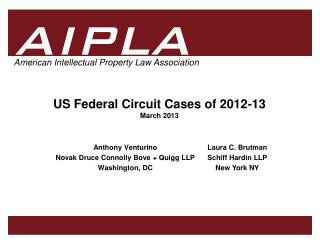 US Federal Circuit Cases of 2012-13 March 2013