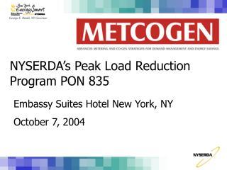 NYSERDA's Peak Load Reduction Program PON 835