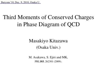 Third Moments of Conserved Charges in Phase Diagram of QCD