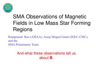 SMA Observations of Magnetic Fields in Low Mass Star Forming Regions