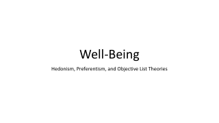 The capability approach and subjective well-being