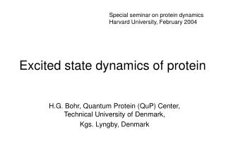 Excited state dynamics of protein
