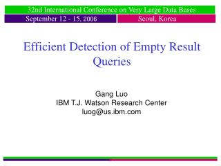 Efficient Detection of Empty Result Queries