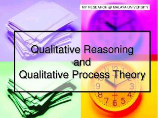 Qualitative Reasoning and  Qualitative Process Theory