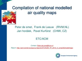 Compilation of national modelled  air quality maps