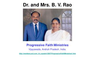 Dr. and Mrs. B. V. Rao
