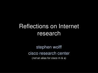 Reflections on Internet research