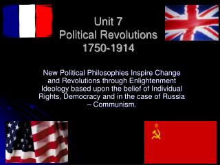 Unit 7  Political Revolutions 1750-1914