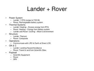 Lander + Rover