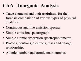 Ch 6   Inorganic  Analysis