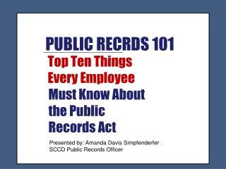 PUBLIC RECRDS 101