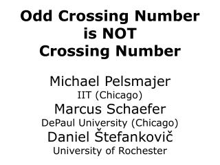 Odd Crossing Number is NOT Crossing Number