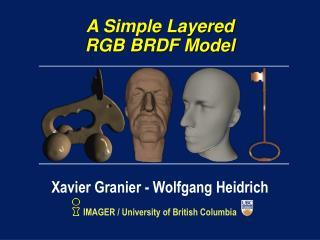A Simple Layered RGB BRDF Model