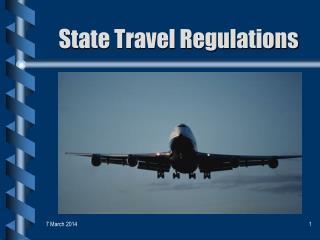 State Travel Regulations