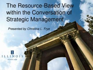 The Resource-Based View within the Conversation of Strategic Management
